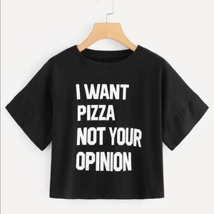 Tops - NEW Pizza lover Crop top, Womens Graphic top